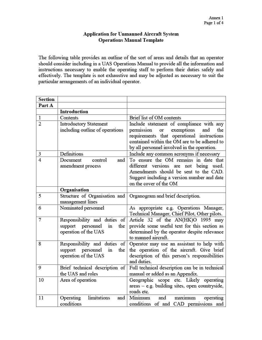 40 Free Instruction Manual Templates [Operation / User Manual] With Regard To Instruction Sheet Template Word
