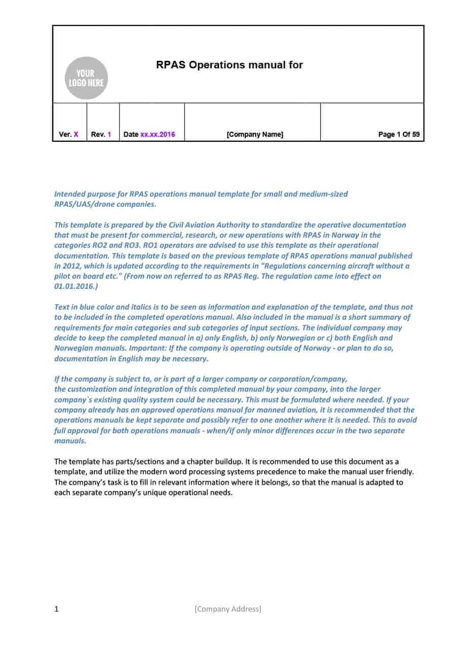 40 Free Instruction Manual Templates [Operation / User Manual] Within Instruction Sheet Template Word