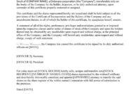 40+ Free Stock Certificate Templates (Word, Pdf) ᐅ Template Lab regarding Corporate Secretary Certificate Template