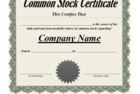40+ Free Stock Certificate Templates (Word, Pdf) ᐅ Template Lab within Corporate Share Certificate Template