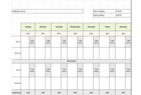 40 Free Timesheet Templates [In Excel] ᐅ Template Lab with regard to Weekly Time Card Template Free