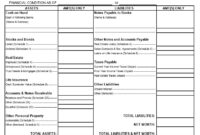 40+ Personal Financial Statement Templates & Forms ᐅ Pertaining To Blank Personal Financial Statement Template