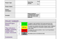 40+ Project Status Report Templates [Word, Excel, Ppt] ᐅ in Project Weekly Status Report Template Excel