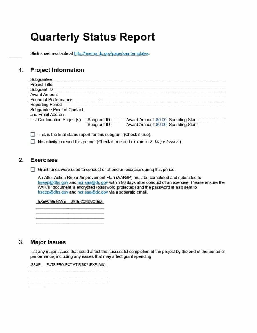 40+ Project Status Report Templates [Word, Excel, Ppt] ᐅ Regarding Project Status Report Email Template