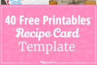 40 Recipe Card Template And Free Printables – Tip Junkie For Fillable Recipe Card Template
