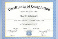 42+ Free Certificate Of Completion Templates In Word Excel Pdf pertaining to Certificate Of Completion Word Template