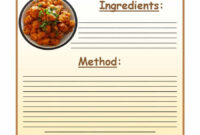 44 Perfect Cookbook Templates [+Recipe Book & Recipe Cards] within Microsoft Word Recipe Card Template