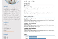 45 Free Modern Resume / Cv Templates – Minimalist, Simple for Free Downloadable Resume Templates For Word