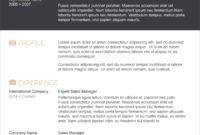 45 Free Modern Resume / Cv Templates – Minimalist, Simple for Resume Templates Word 2007