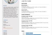 45 Free Modern Resume / Cv Templates – Minimalist, Simple with regard to Free Resume Template Microsoft Word