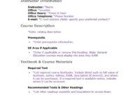 47 Editable Syllabus Templates (Course Syllabus) ᐅ Template Lab for Blank Syllabus Template