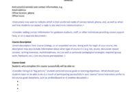 47 Editable Syllabus Templates (Course Syllabus) ᐅ Template Lab inside Blank Syllabus Template