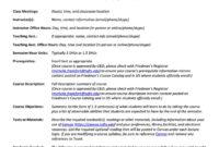 47 Editable Syllabus Templates (Course Syllabus) ᐅ Template Lab within Blank Syllabus Template