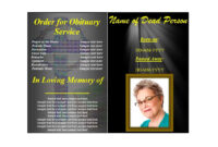 47 Free Funeral Program Templates (In Word Format) ᐅ Regarding Memorial Brochure Template