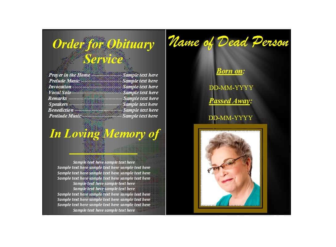 47 Free Funeral Program Templates (In Word Format) ᐅ Regarding Memorial Brochure Template