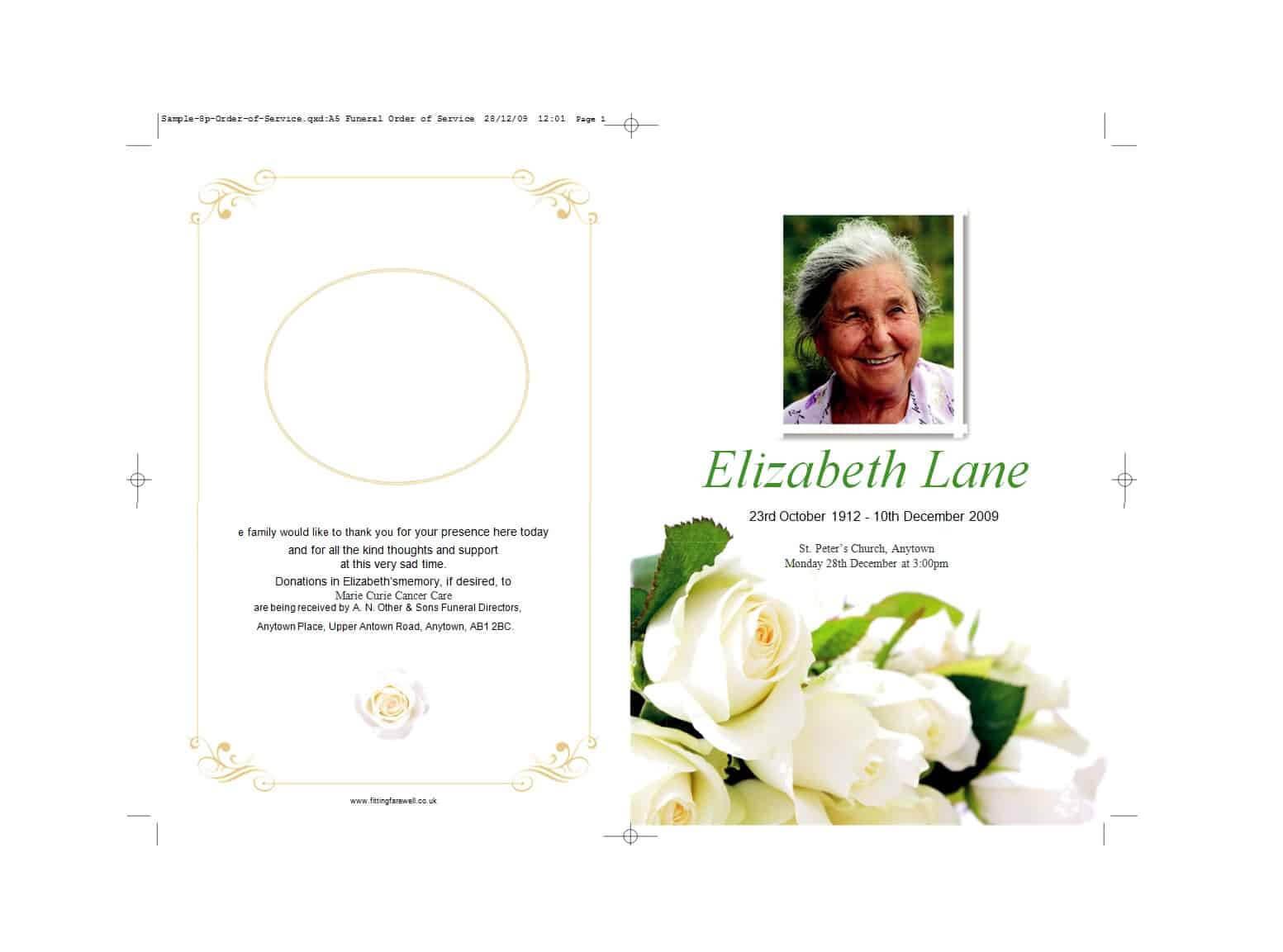 47 Free Funeral Program Templates (In Word Format) ᐅ With Regard To Memorial Brochure Template