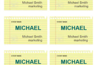 47 Free Name Tag + Badge Templates ᐅ Template Lab in Visitor Badge Template Word