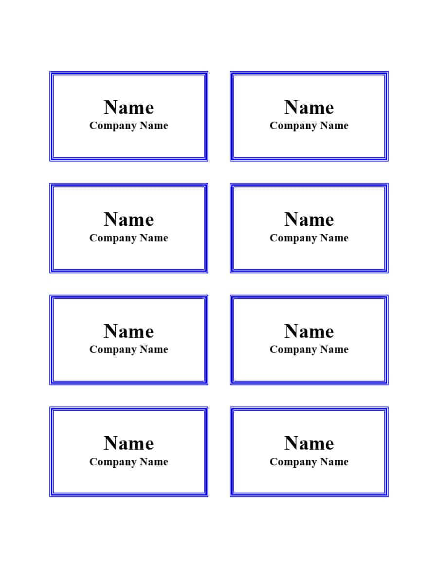 47 Free Name Tag + Badge Templates ᐅ Template Lab Intended For Visitor Badge Template Word