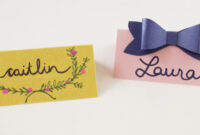5 Creative Place Card Ideas throughout Paper Source Templates Place Cards