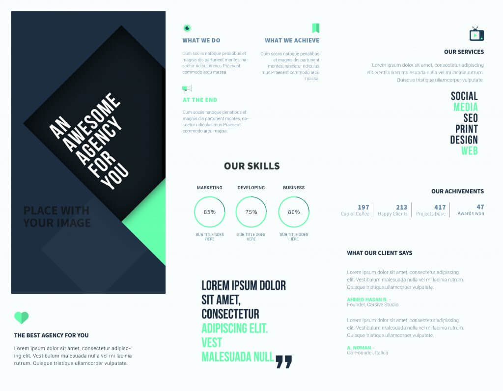 5 Free Online Brochure Templates To Create Your Own Brochure   Pertaining To Free Online Tri Fold Brochure Template