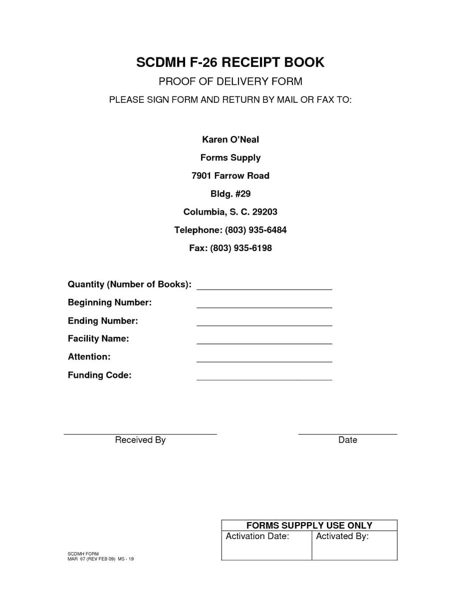 5 Proof Of Delivery Templates | Free Sample Templates With Regard To Proof Of Delivery Template Word