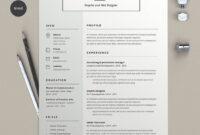 50+ Best Cv & Resume Templates 2020 | Cv Resume Template regarding Resume Templates Word 2013