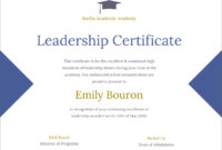 50 Free Creative Blank Certificate Templates In Psd in Leadership Award Certificate Template