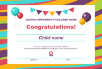 50 Free Creative Blank Certificate Templates In Psd with Certificate Of Achievement Template For Kids