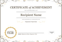 50 Free Creative Blank Certificate Templates In Psd with regard to Student Of The Year Award Certificate Templates