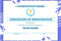 50 Free Creative Blank Certificate Templates In Psd with Soccer Certificate Template