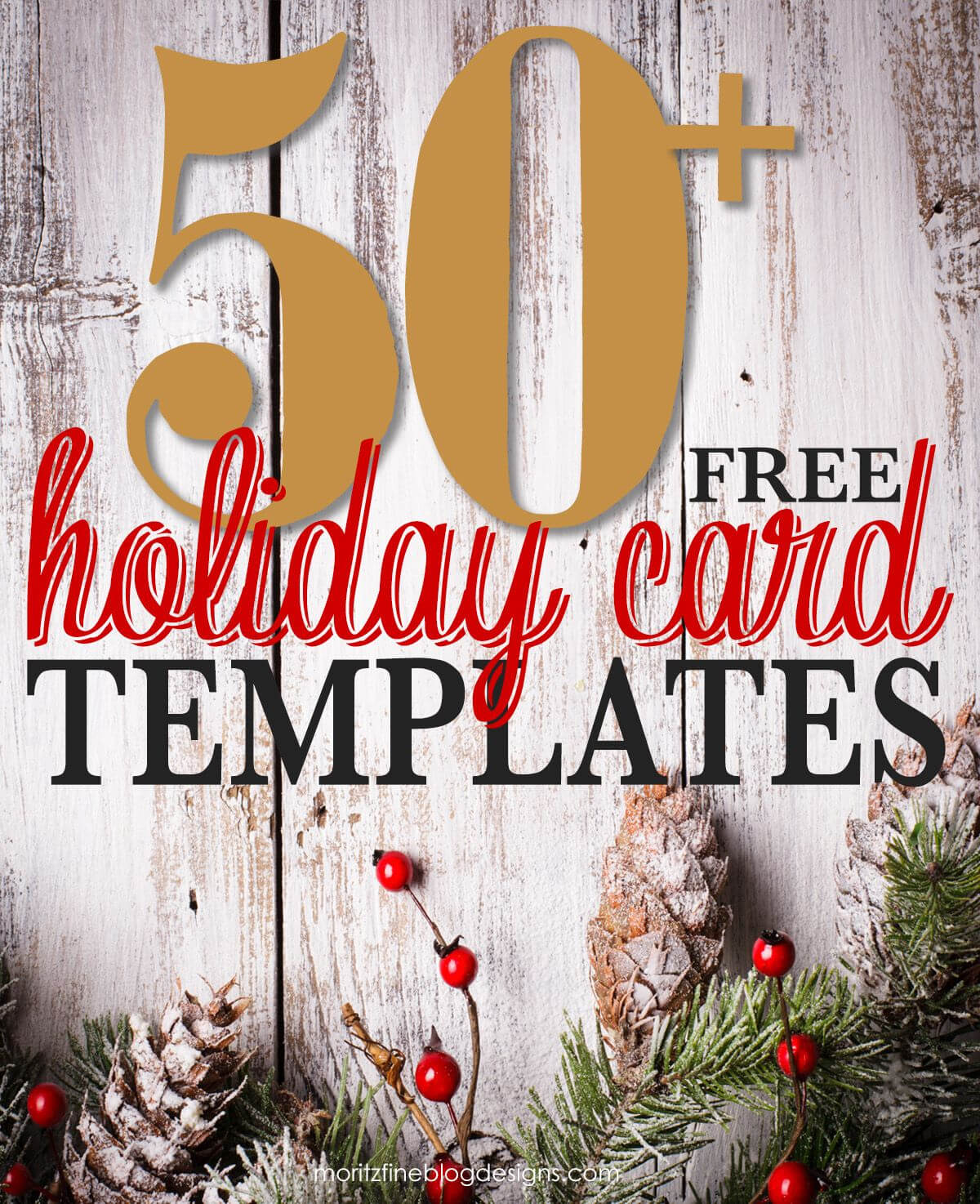 50 + Free Holiday Photo Card Templates | Christmas Photo In Free Holiday Photo Card Templates