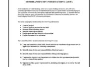 50 Free Memorandum Of Understanding Templates [Word] ᐅ with regard to Memo Template Word 2010