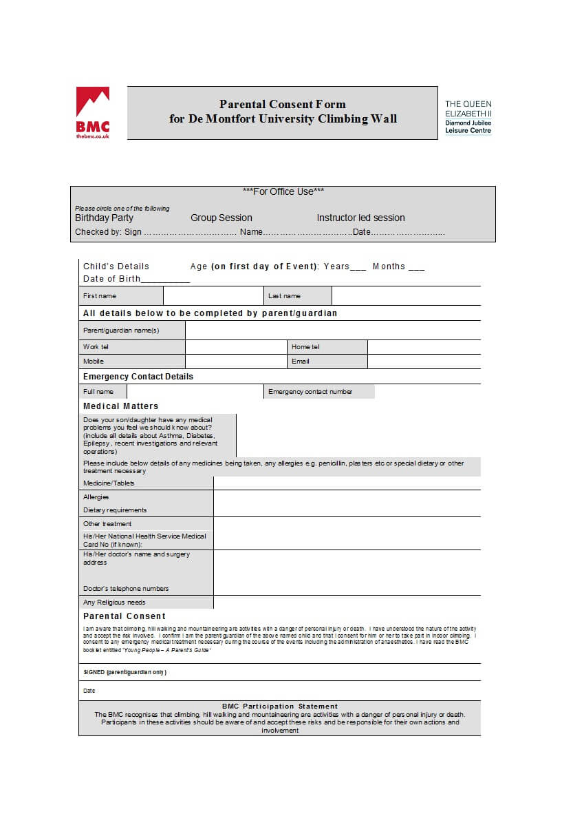 50 Printable Parental Consent Form & Templates ᐅ Template Lab Regarding Travel Request Form Template Word