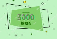 5000 Likes Thank You Card Template Stock Vector (Royalty regarding Soccer Thank You Card Template