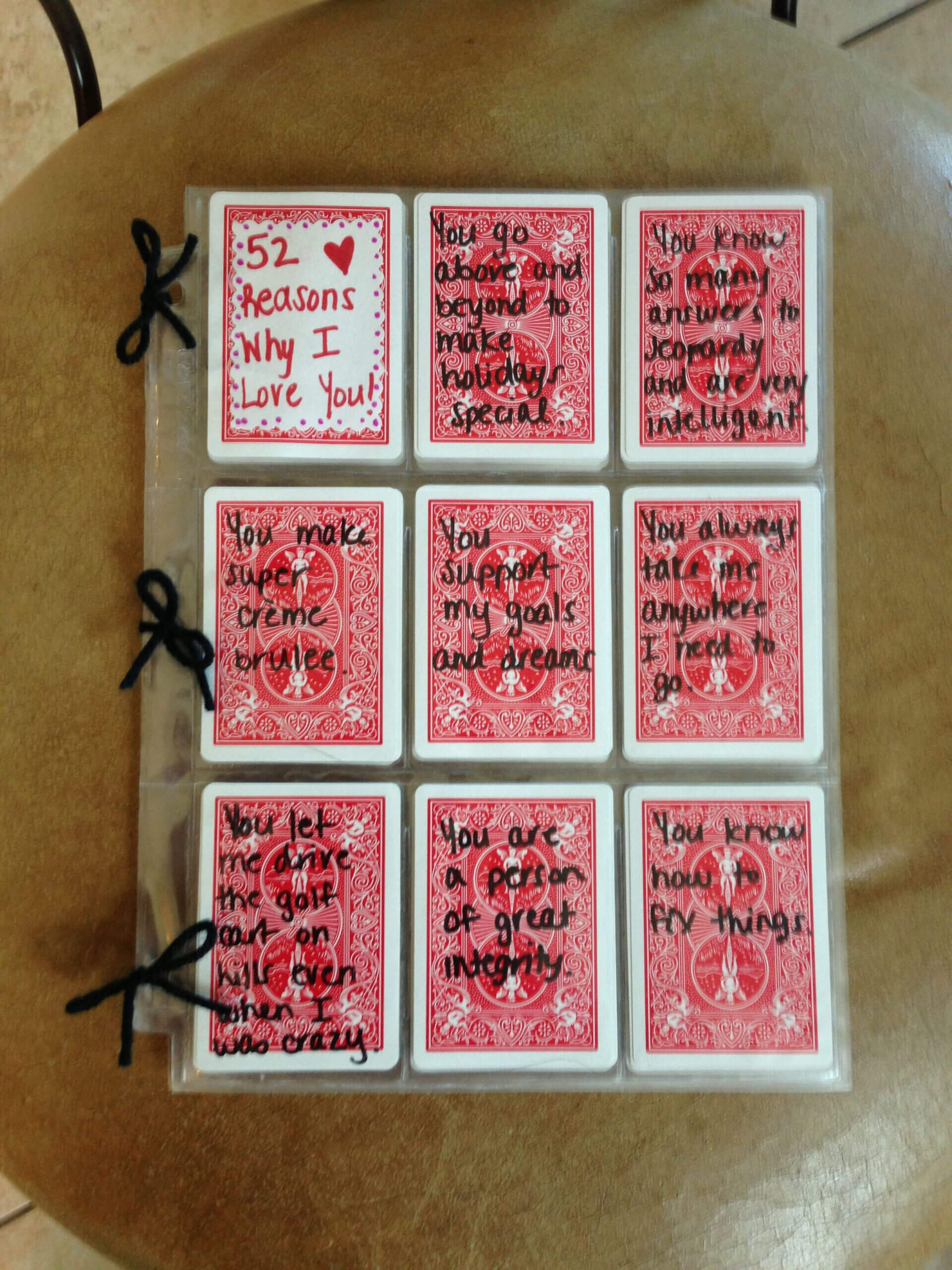 52 Reasons I Love You Write Reasons With Sharpie On Cards Regarding 52 Reasons Why I Love You Cards Templates Free