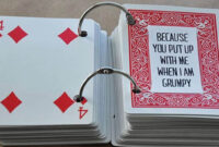 52 Things I Love About You Cards – Health Journal for 52 Things I Love About You Cards Template