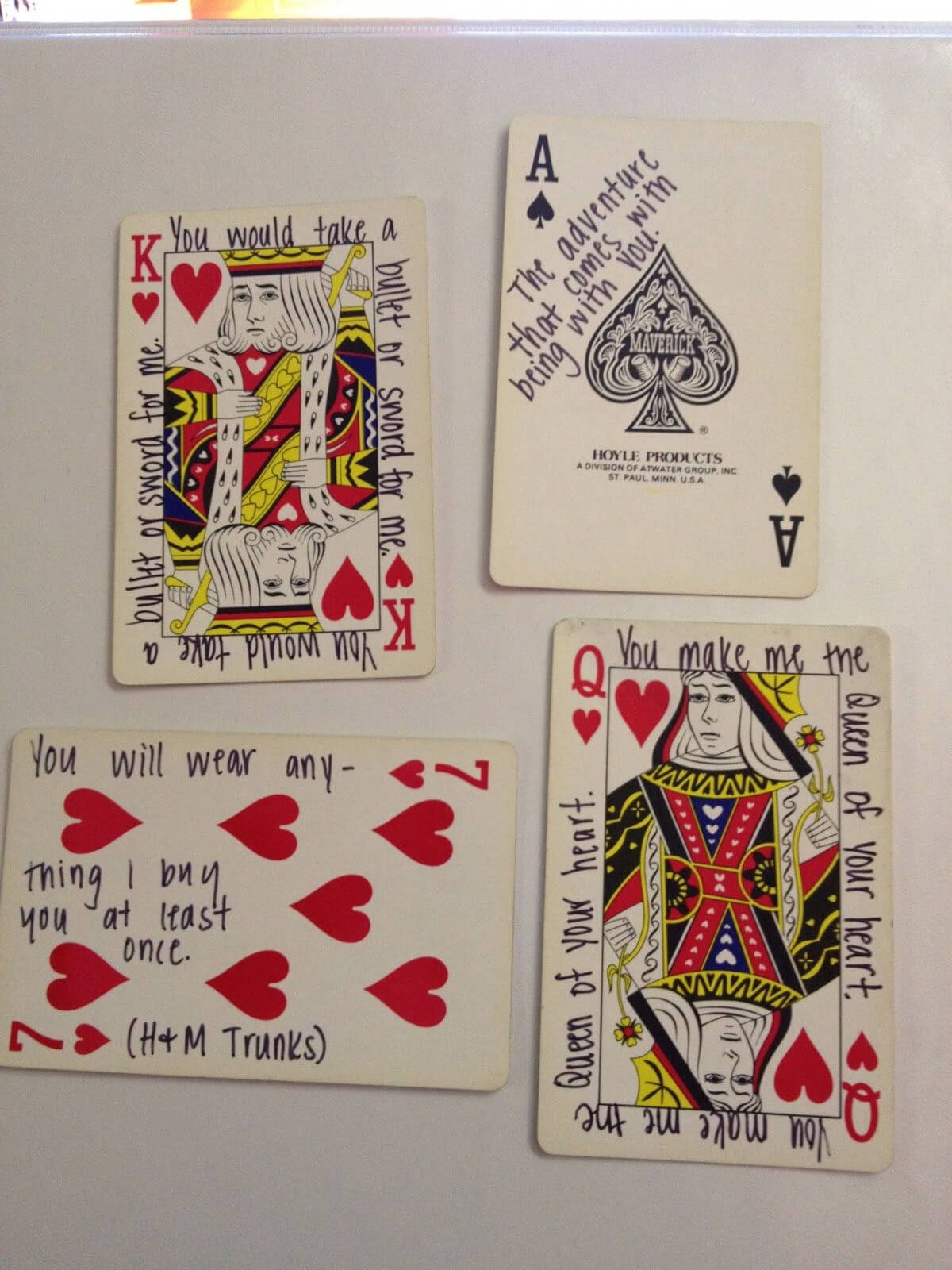 52 Things I Love About You: Old Or New Deck Of Cards With 52 Things I Love About You Deck Of Cards Template