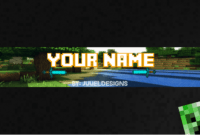 58 Banner Template Minecraft Psd, Banner Minecraft Psd Template with regard to Minecraft Server Banner Template