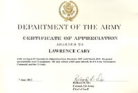 6+ Army Appreciation Certificate Templates – Pdf, Docx inside Retirement Certificate Template