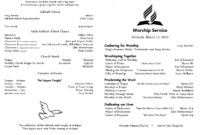 6 Awesome Seventh Day Adventist Church Bulletin Templates inside Church Program Templates Word
