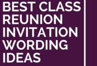 6 Best Class Reunion Invitation Wording Ideas | Class inside Reunion Invitation Card Templates