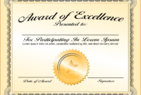 6+ Certificate Award Template – Bookletemplate regarding Sample Award Certificates Templates