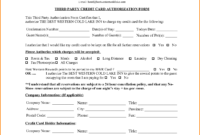 6+ Hotel Credit Card Authorization Form | Authorization for Company Credit Card Policy Template