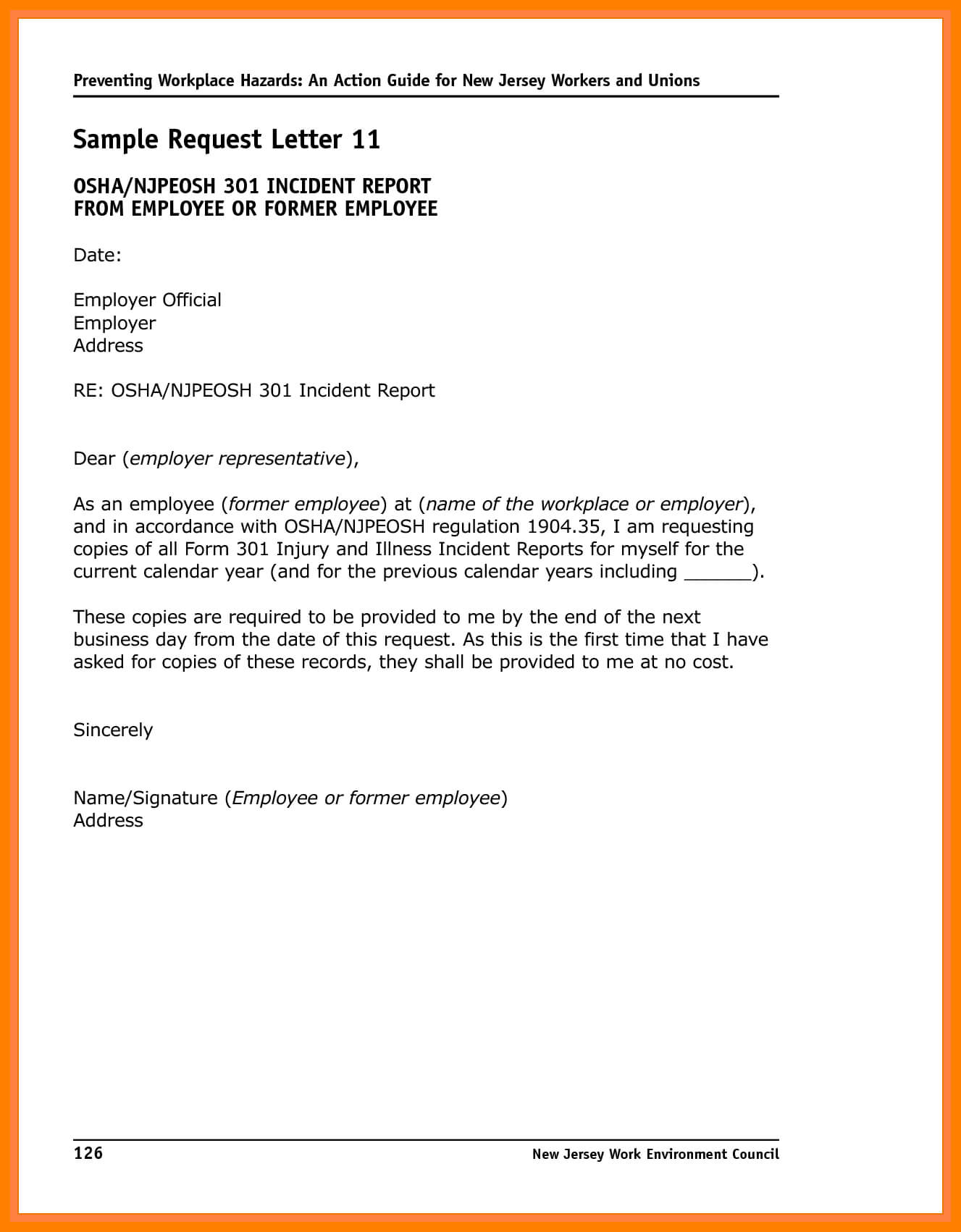 6+ Incident Report Letter Examples – Pdf | Examples Intended For Incident Report Form Template Word