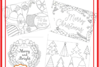 6 Unique Christmas Cards To Color Free Printable Download in Diy Christmas Card Templates