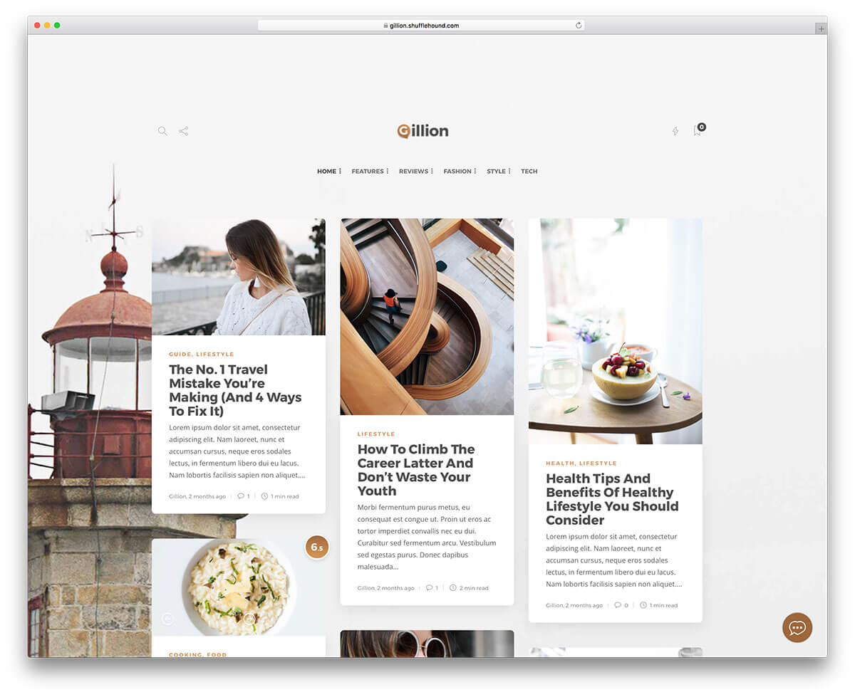 60+ Best Clean WordPress Themes 2019 - Colorlib With Regard To Blank Food Web Template