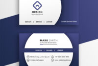 688D46E Modern Business Card Presentation Template | Wiring Throughout Hvac Business Card Template