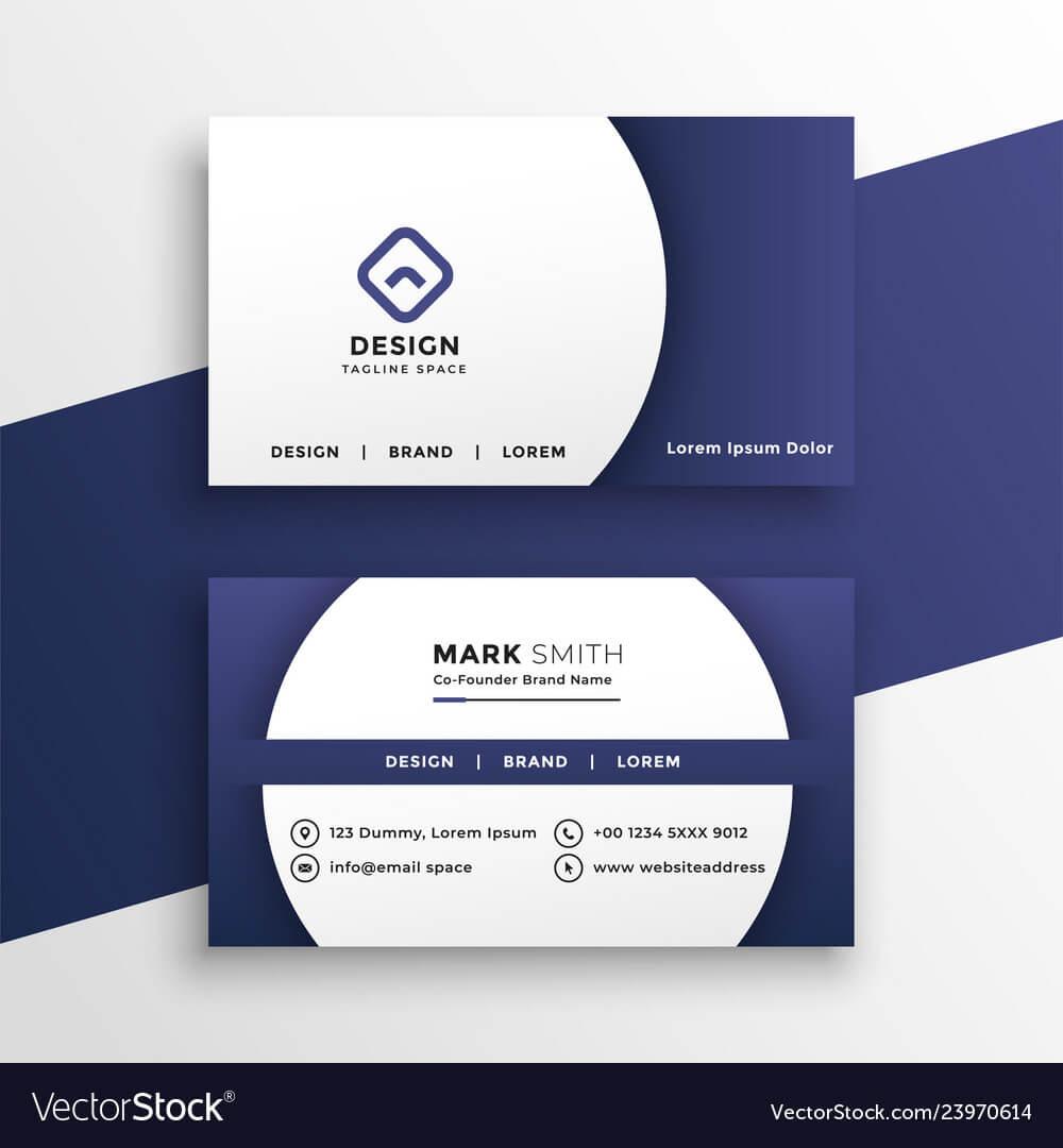 688D46E Modern Business Card Presentation Template | Wiring Throughout Hvac Business Card Template