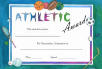 6A85Ae0 Certificates Templates For Word And Sports Day regarding Athletic Certificate Template