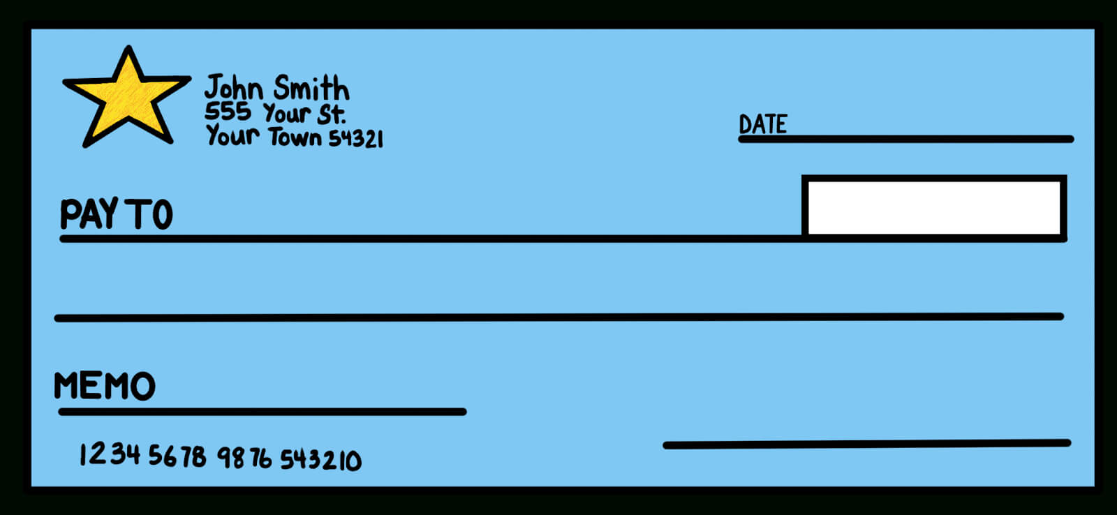 7+ Blank Check Templates – Word Excel Samples Throughout Customizable Blank Check Template